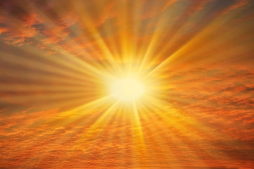 bright golden light